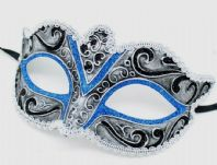 Silver and Blue Mask